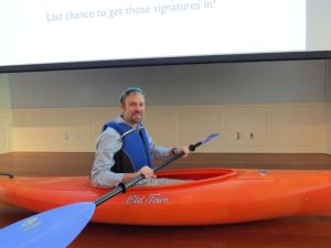 Luke Howell, Winner of the 2013 kayak donated by Old Town Canoe