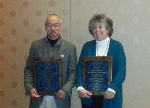 Chris Toy and Jill Spencer Recipients of 2014 NELMS Distinguished Service Award