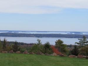 View of Penobscot Bay from Exhibitors' area.