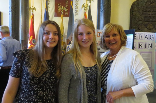 image of Ann Lepage and students