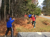 Messalonskee Middle School - Community Service Leaf Raking for elderly community members